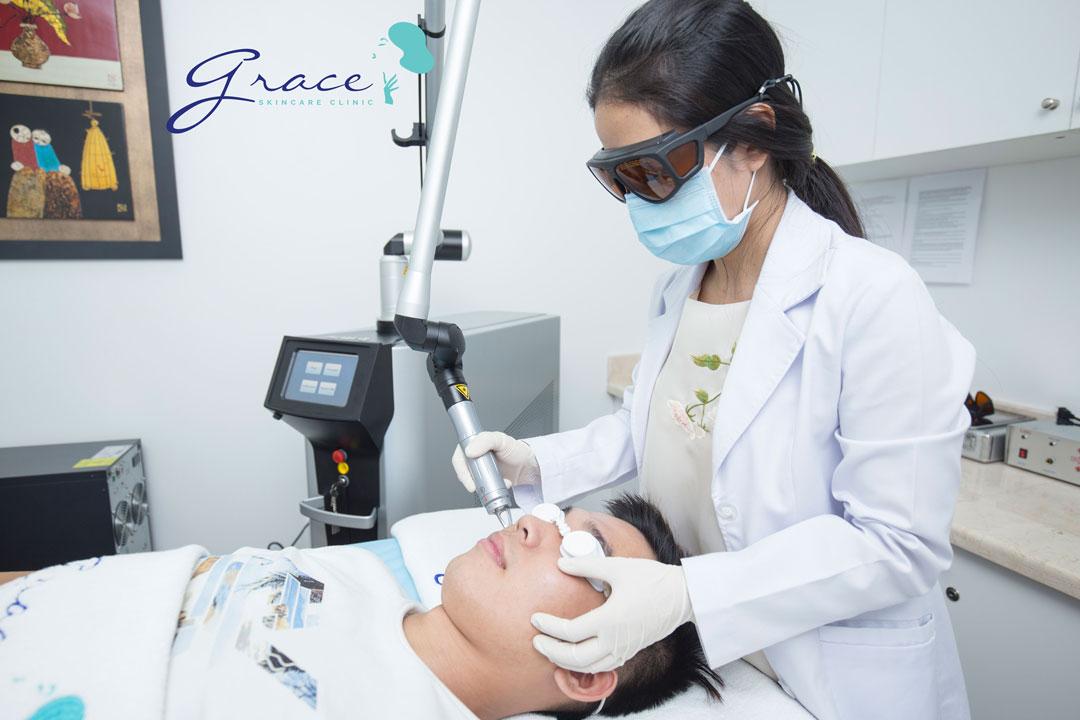 Điều trị giãn mao mạch mặt với bác sĩ da liễu tại Grace Skincare Clinic