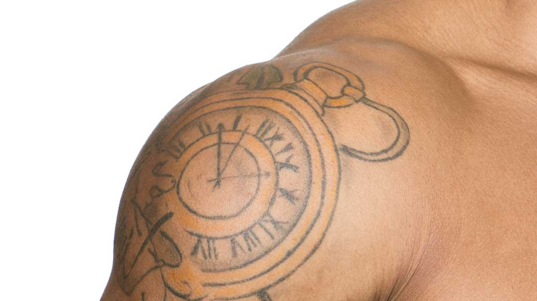 Tattoo on dark skin tone