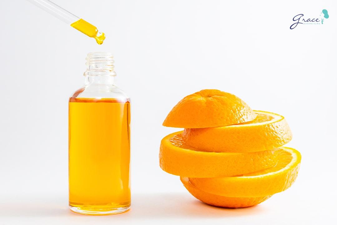 trị mụn thâm bằng vitamin C